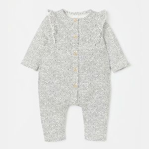 H&M baby girl dotted sweatshirt jumpsuit